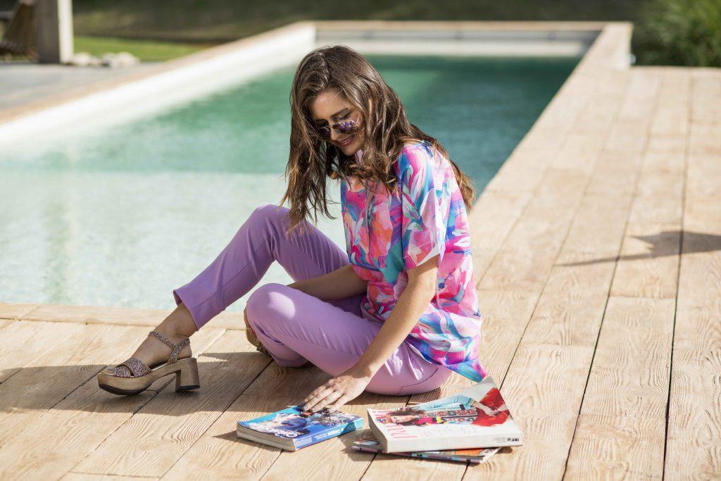 look casual señoras con pantalon lila vulpes verano 2020