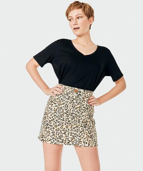 minifalda leopardo kosiuko primavera verano 2020
