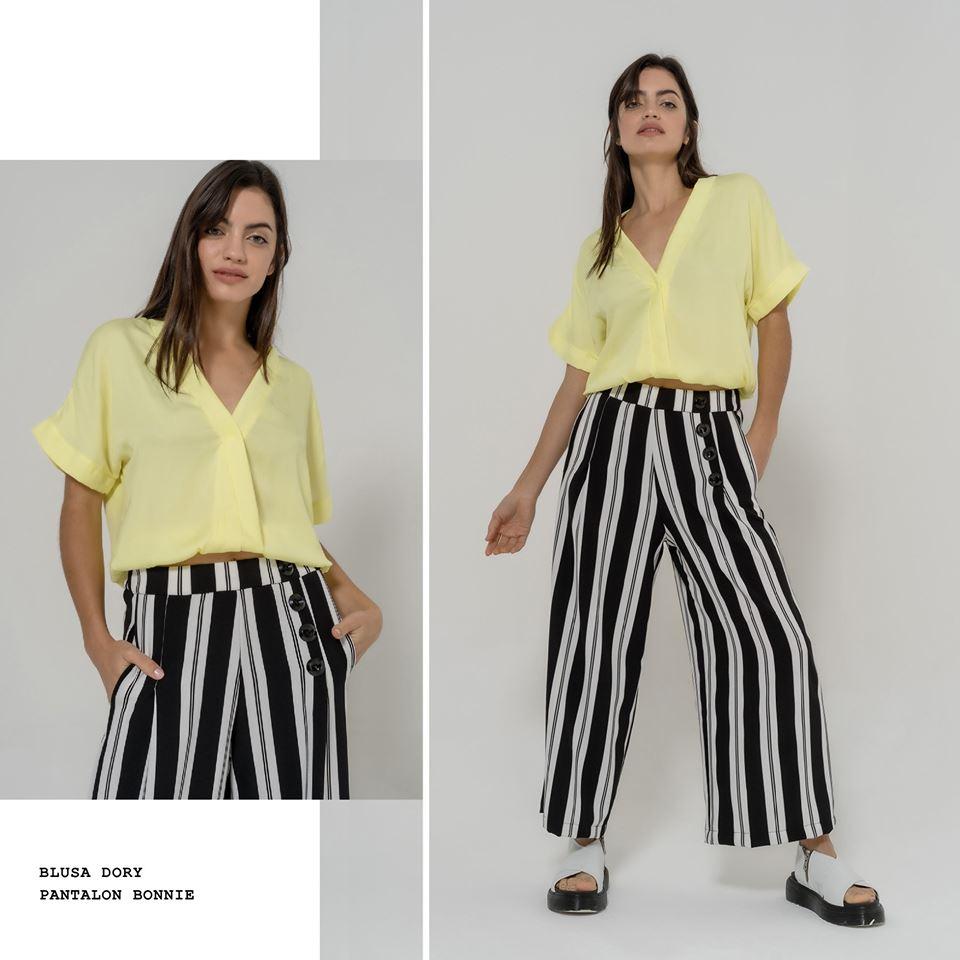 pantalon a rayas juvenil mujer