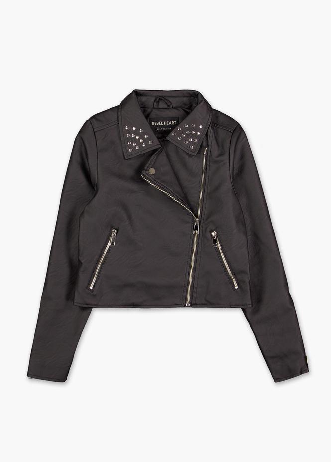 short juveniles chaqueta cuero quiera