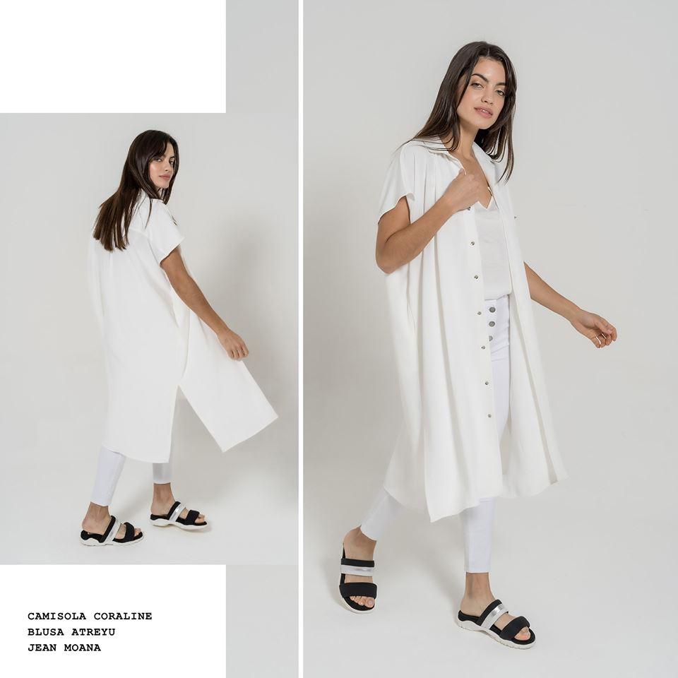 vestido camisero blanco casual La cofradia verano 2020