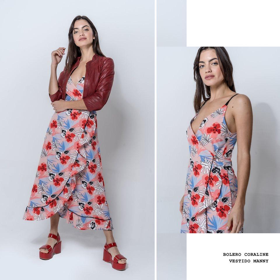 vestido largo estampado casual La cofradia verano 2020