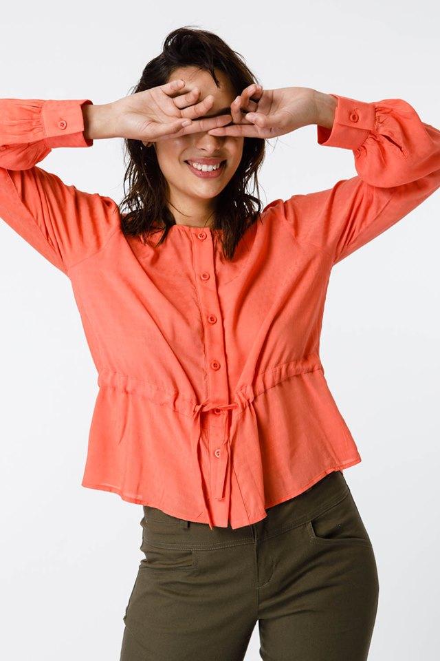 Camisa coral verano 2020 Sans Doute