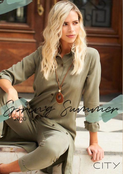 Camisa larga verde militar verano 2020 City Jenifer Argentina
