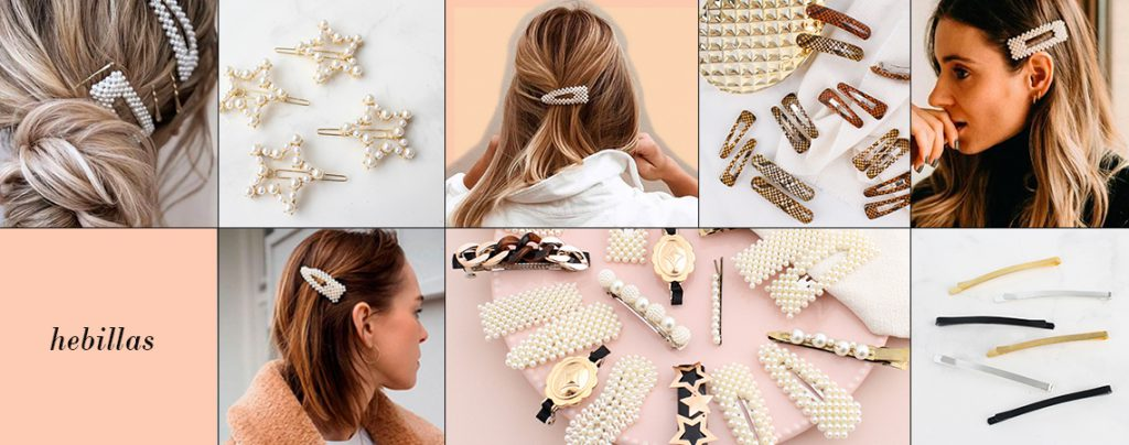 Hebillas con perlas primavera verano 2020 Carey