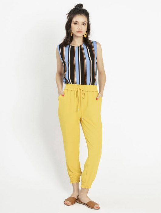 Pantalon amarillo verano 2020 Asterisco