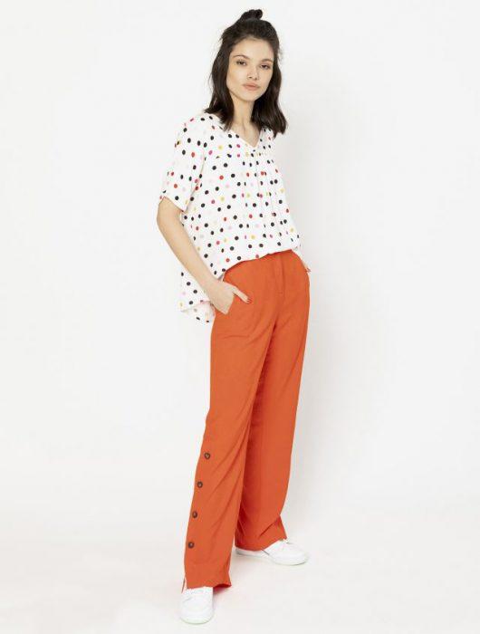 Pantalon naranja verano 2020 Asterisco