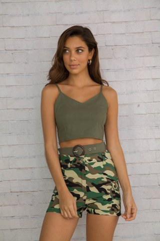 Short Militar y top Moda juvenil verano 2020 Love This