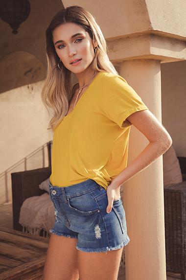 Shorts jeans con roturas mujer verano 2020 Peque