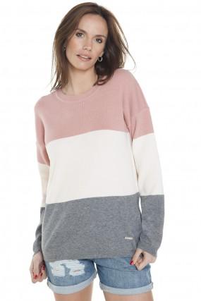 Sweater a rayas anchas primavera verano 2020 Mujer Nuss tejidos