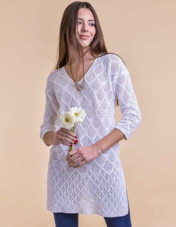 Sweater largo blanco mujer verano 2020 Mauro sergio