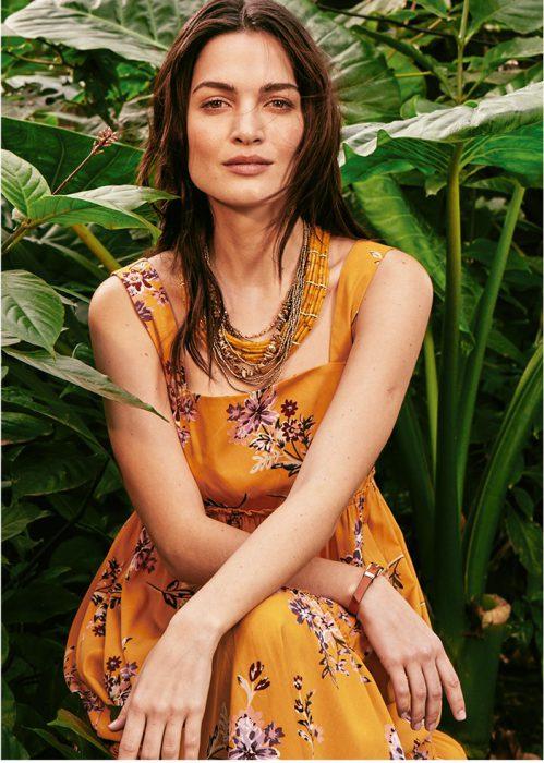 Vestido estampado dia verano 2020 India Style