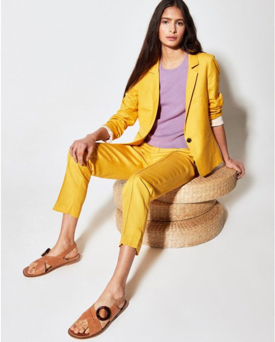 blazer de lino moderno verano 2020 Portsaid