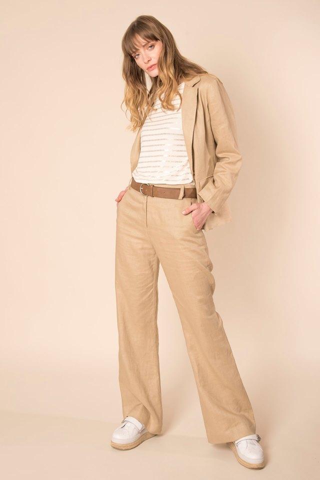 Blazer Y Pantalon Gabardina Mujer Sarawak Verano 2020 Notilook Moda Argentina