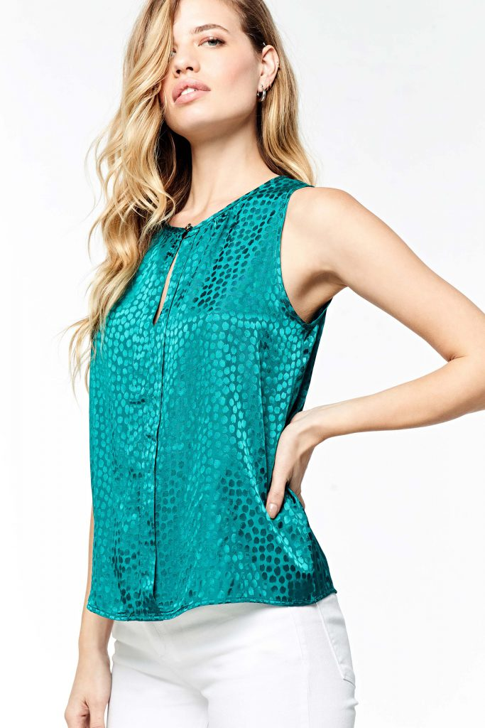 blusa musculosa seda para señoras Markova verano 2020