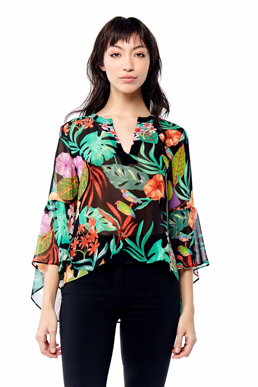blusas estampadas para señoras Markova verano 2020
