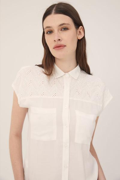 camisa blanca mujer Estancias Chiripa verano 2020