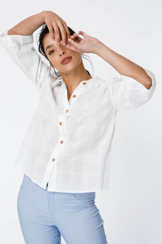 camisa blanca mujer verano 2020 Sans Doute