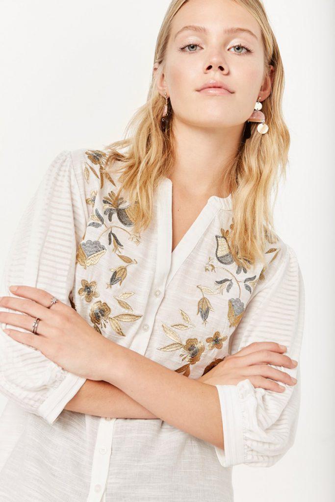 camisa bordada boho chic verano 2020 Rapsodia