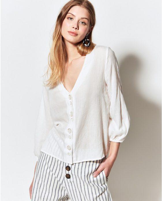 camisa de lino moderno verano 2020 Portsaid