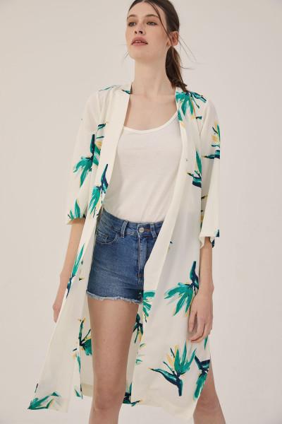 camisa kimono largo estampado estancias chiripa verano 2020