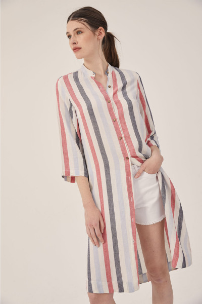 camisa larga lino mujer estancias chiripa verano 2020