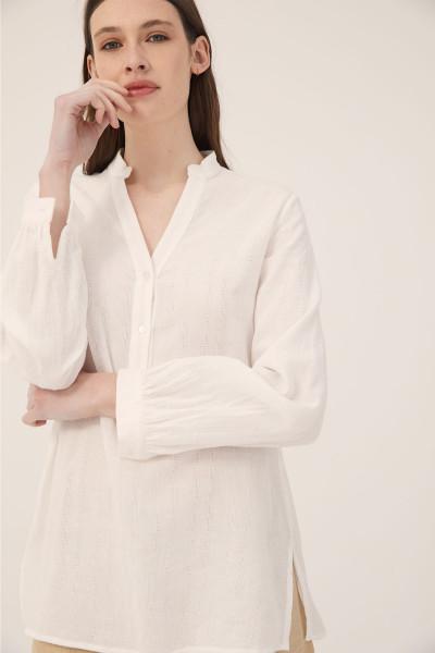 camisola blanca camisa Estancias Chiripa verano 2020