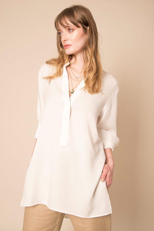 camisola blanca mujer Sarawak verano 2020