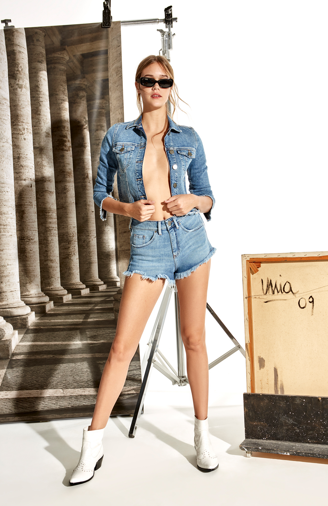 campera top denim Delaostia verano 2020