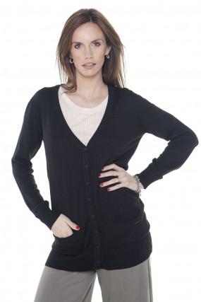 cardingans negro tejido primavera verano 2020 Mujer Nuss tejidos