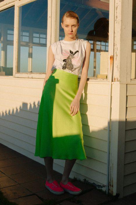 falda midi mujer verano 2020 Tierra 316