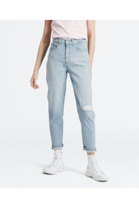 jeans basicos con roturas mujer Levis verano 2020
