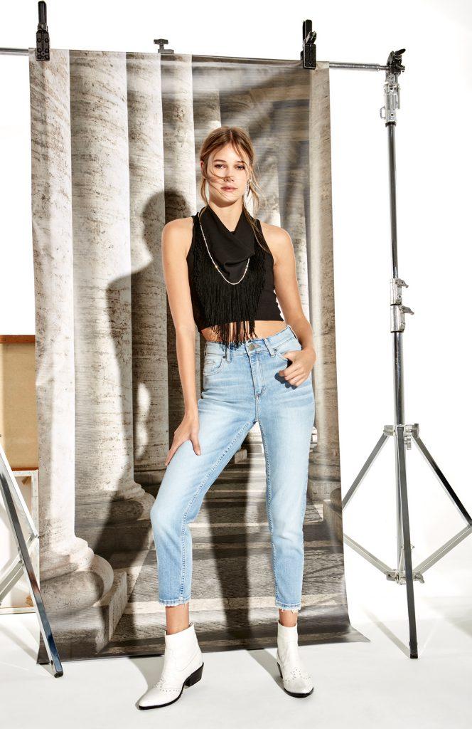 jeans chupin rustico Delaostia verano 2020