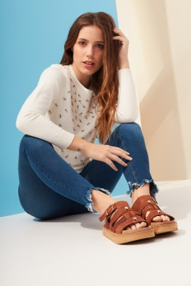 jeans con desflecados mujer Kevingston mujer verano 2020