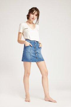 minifalda con botones vesna verano 2020