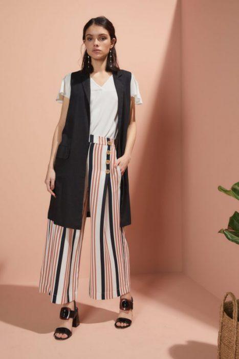 pantalon ancho a rayas Edel Erra verano 2020