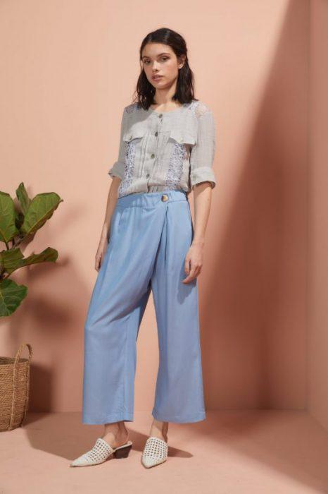 pantalon ancho celeste Edel Erra verano 2020