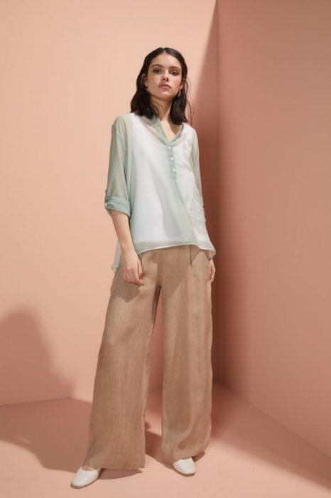 pantalon ancho de lino Edel Erra verano 2020