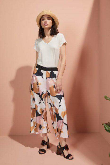 pantalon ancho estampado pantacort Edel Erra verano 2020