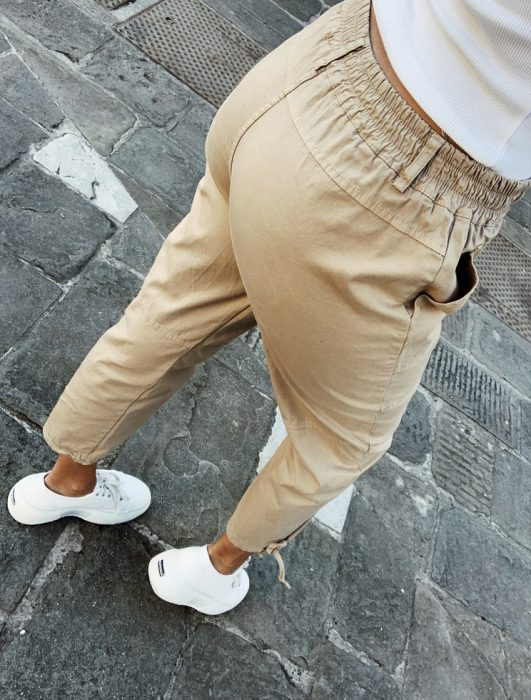 pantalon cargo chupin Lino Piccola verano 2020