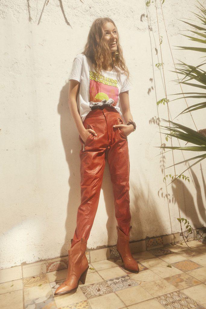 pantalon de cuero Maria Cher Looks de moda para mujer verano 2020