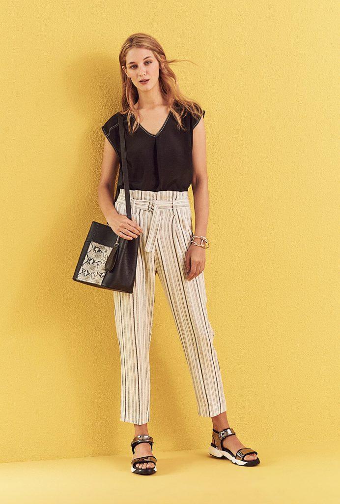 pantalon de vestir con lazo primavera verano 2020 vitamina