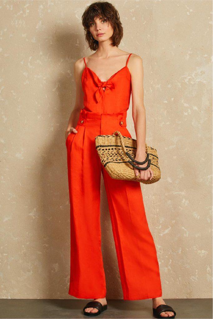 pantalon largo ancho mujer Uma verano 2020