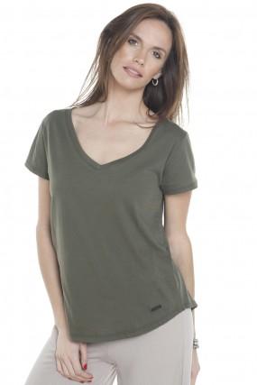 remera basica verde primavera verano 2020 Mujer Nuss tejidos