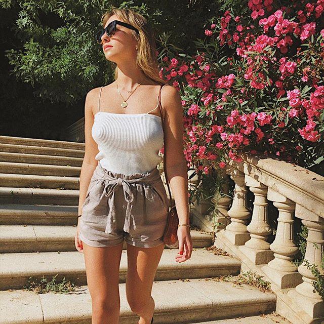 shor con lazo de lino piccolo verano 2020