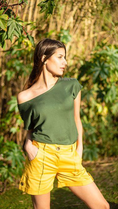 short amarillo primavera verano 2020 Sicala