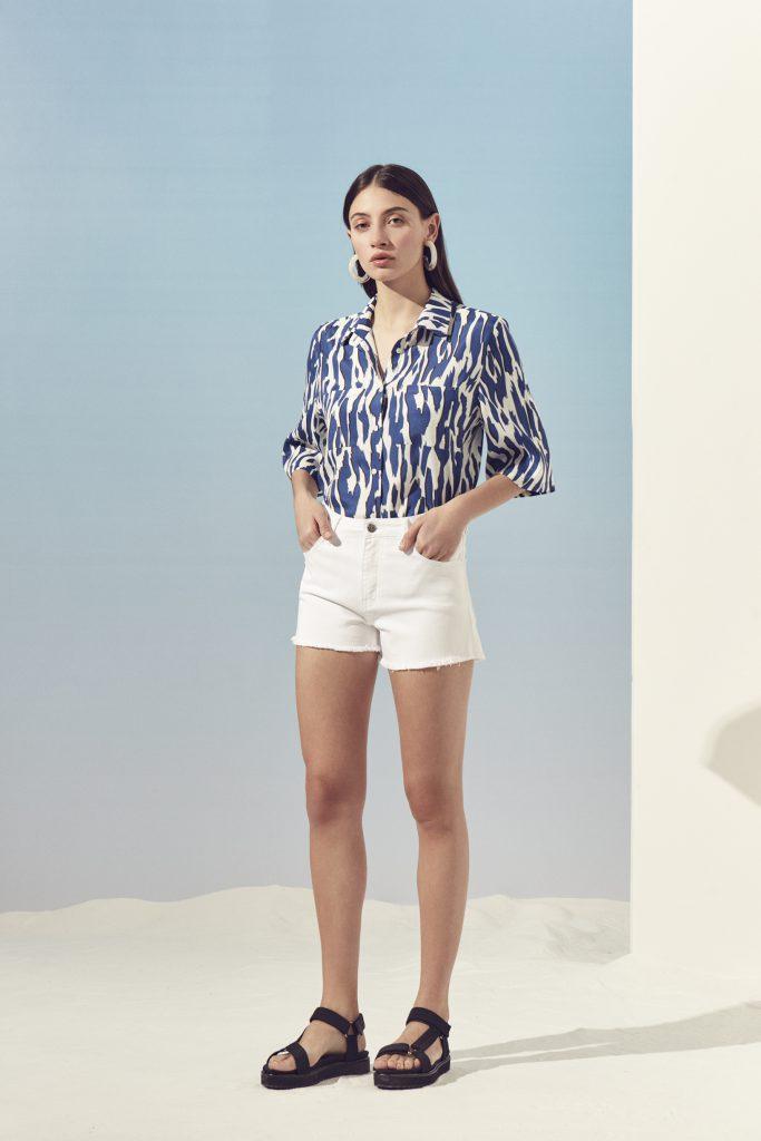 short con camisa estampada mujer Ayres primavera verano 2020