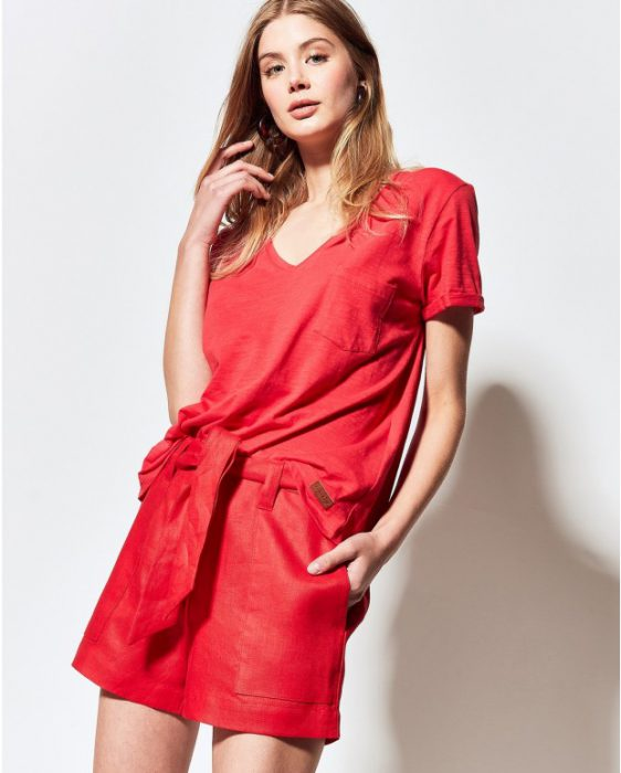 short lino rojo moderno verano 2020 Portsaid