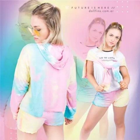 short y campera batik colores Doll fins verano 2020