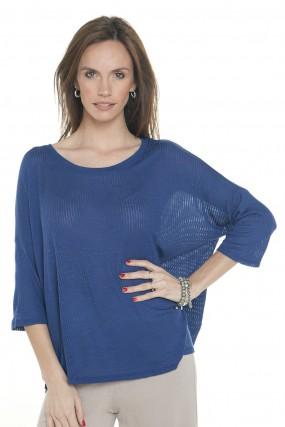 sweater azul tejido primavera verano 2020 Mujer Nuss tejidos